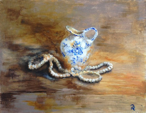 Small Jug with Pearls  SOLD