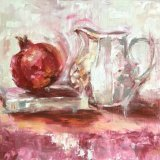 Pomegranate with Poetry & Jug