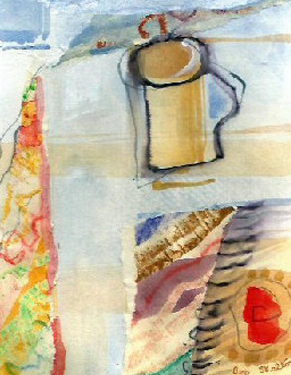 coffee abstract painting by Bee Skelton
