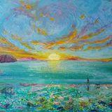 Dawn Patrol - Mixed media on canvas