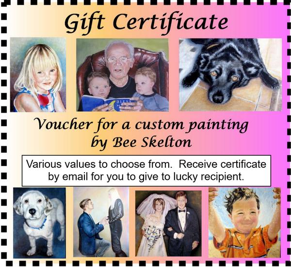 Gift Certificate for original custom oil painting