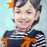 Girl with Orange Ribbons SOLD