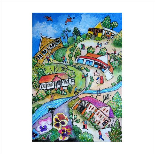 Original painting Happy Valley Marlow Bottom by Bee Skelton