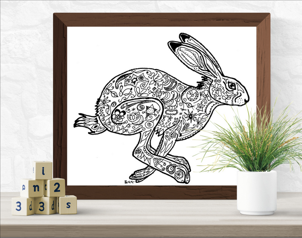hare print by Bee Skelton