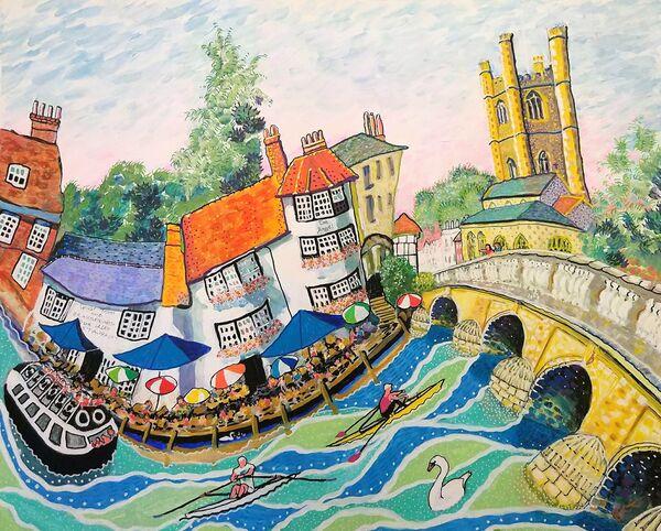 Henley Bridge original painting by Bee Skelton