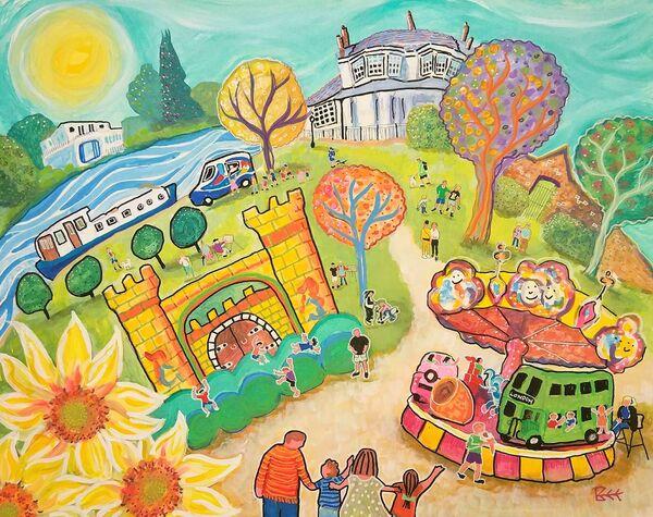 Higginson Park Marlow painting by Bee Skelton