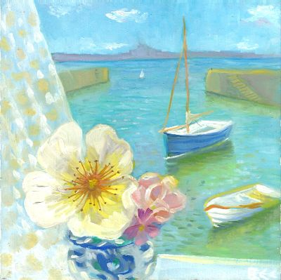 Roses and Mousehole Harbour