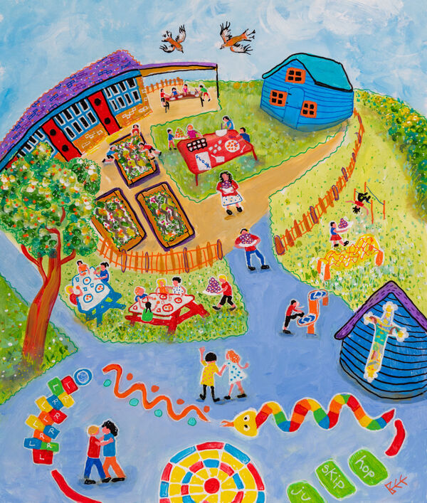 Contemporary naive painting by Bee Skelton