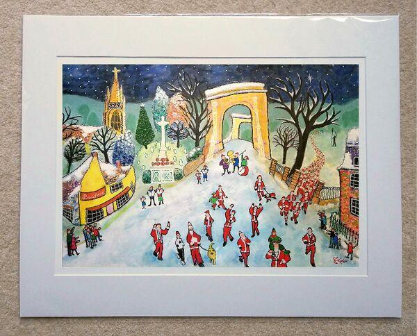 Marlow Santa Fun Run Limited Edition print WITH MOUNT