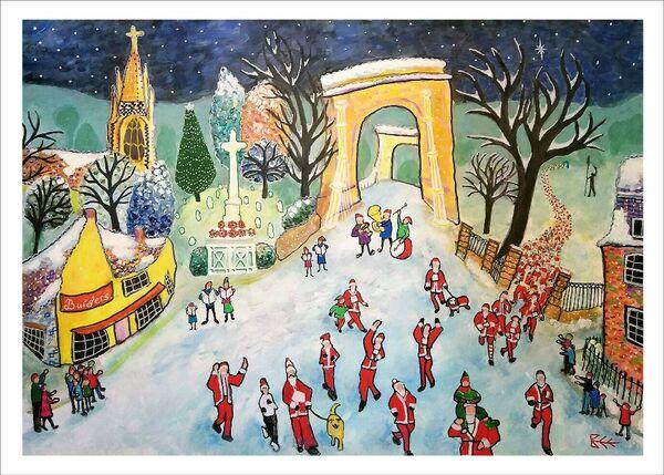 Marlow Santa Fun Run Limited Edition print UNMOUNTED