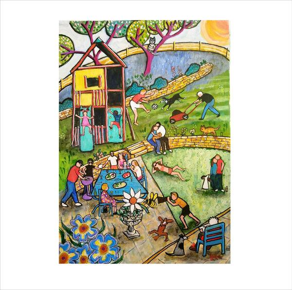 Summer Celebration original painting by Bee Skelton