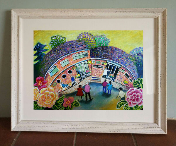 The Barn Marlow Bottom limited edition print from original painting by Bee Skelton