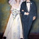 Wedding anniversary gift custom portrait SOLD