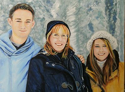 family portrait painting by Bee Skelton