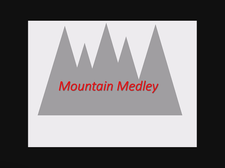 Second Place:  Mountain Medley