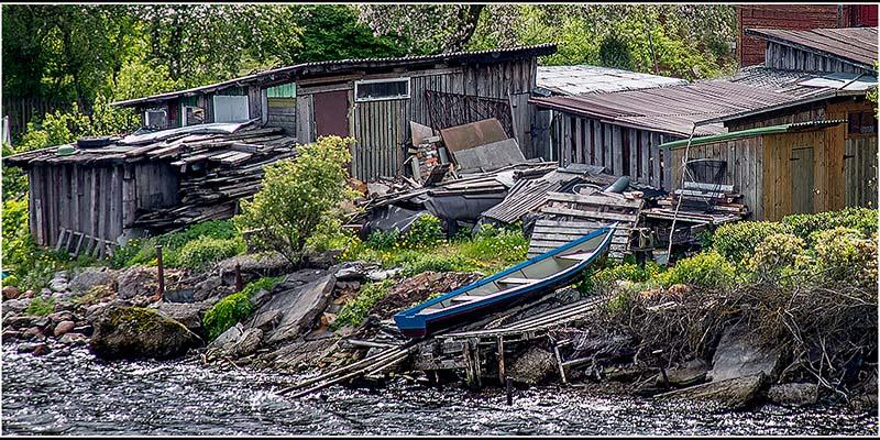 Projected Image Commended: Riverside sheds