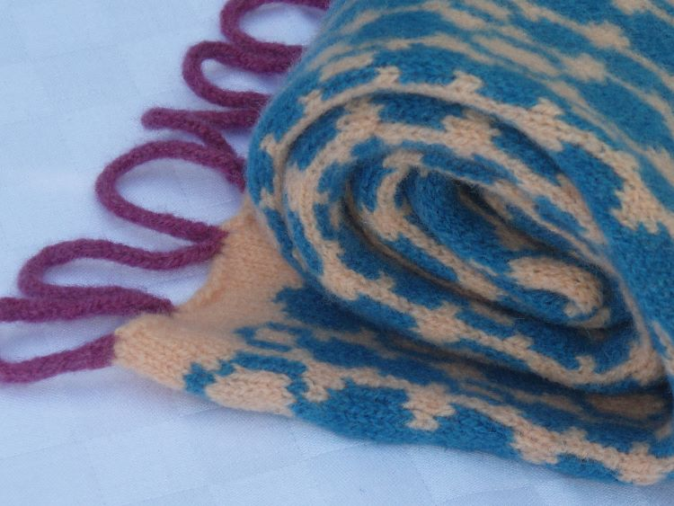 Knitted Scarf with loops