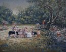 The Picnic Party. Nant Mill. Sold