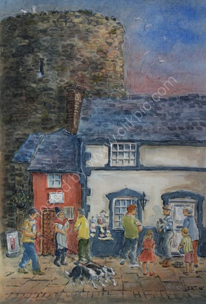The Smallest House, Conwy. Unframed