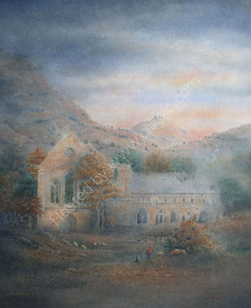 Valle Crucis Abbey, Llangollen, North Wales. Sold