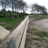 simple post & rail fencing