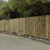 25m feather edge treated fence