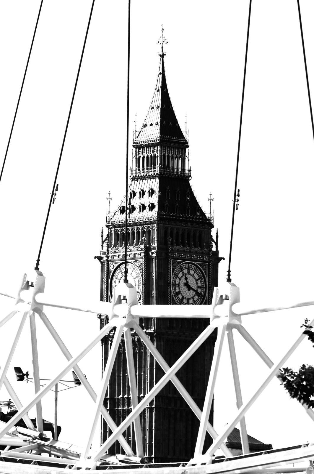 local london area photo big ben and london eye