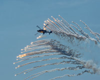 Wildcat firing flares