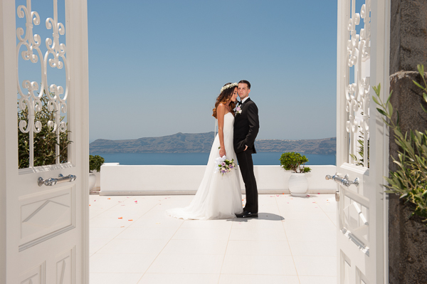 Aerial and Conner, Santorini wedding photography
