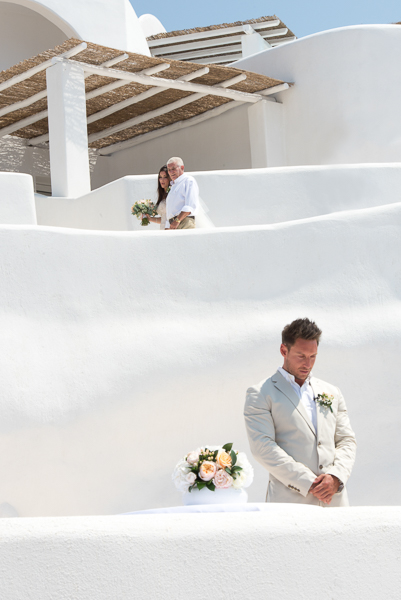 Lara and Mark, Santorini wedding photography