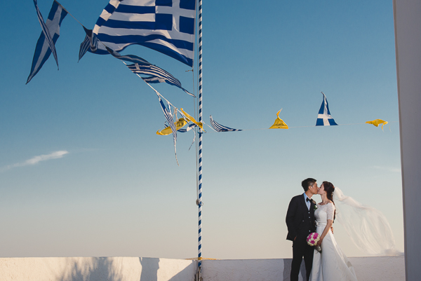 Lijie and Ma Rui, Santorini wedding photography