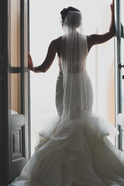 Nicole at Astra Santorini, Santorini wedding photography