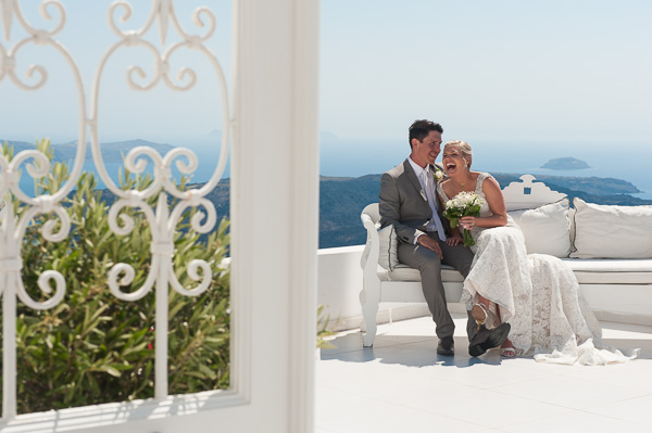 Ella and Clint, Santorini Wedding Photography