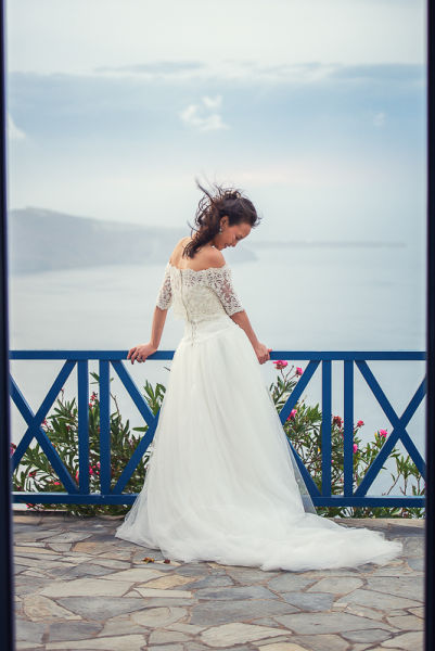 Linlin and Jinnan, Ben Wyatt Santorini Wedding Photography