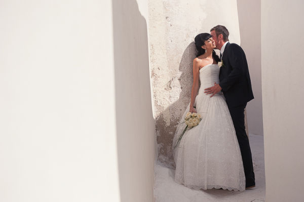 Irina and Aleksey, Ben Wyatt Santorini Wedding Photography