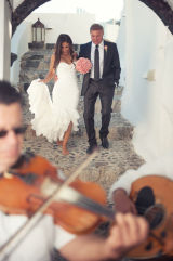 Golnar and Michael, Ben Wyatt Santorini Wedding Photography