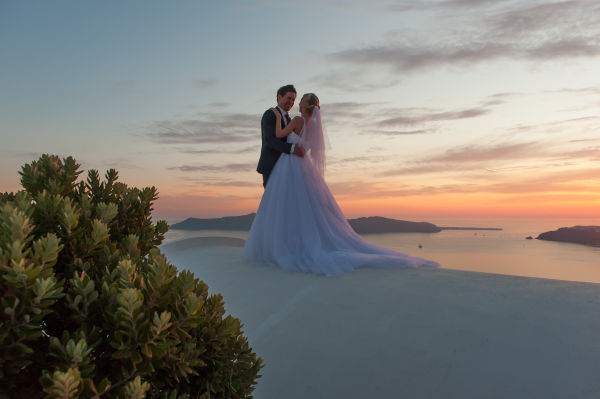 Emma and Leigh, Ben Wyatt Santorini Wedding Photography