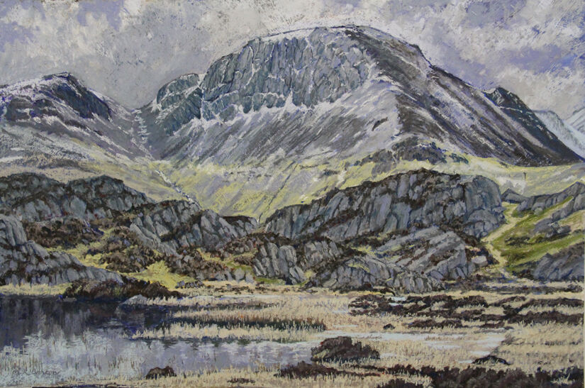 The Innominate Tarn and the north face of Great Gable, the Lake District