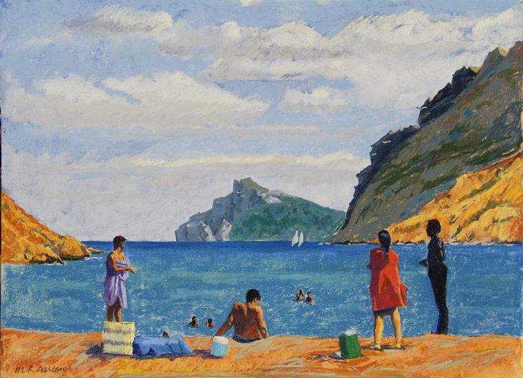 Bathers at Cala Boquer, Mallorca