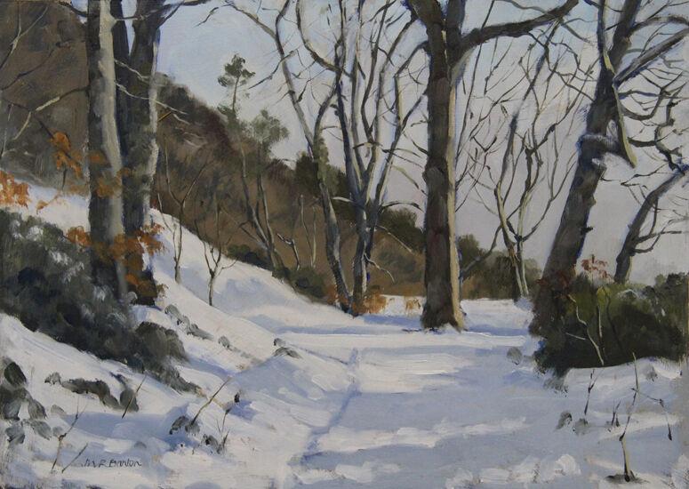 Fife coastal path in snow  near Burntisland