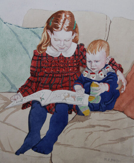 Florrie reading to Sandy