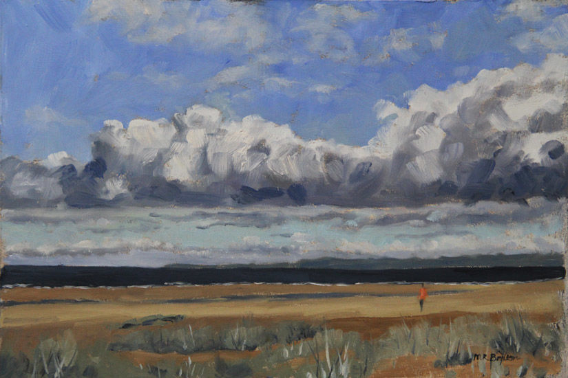 Storm clearing from Tentsmuir beach, Fife, Scotland