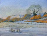 The Wrekin in winter, viewed from Little Wenlock, Shropshire