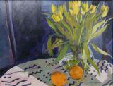 Yellow Tulips with orange