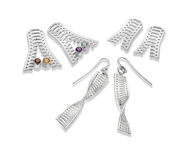 DNA earrings collection