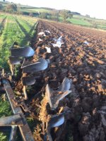Last bit of ploughing, November 2017.