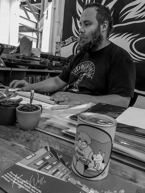 Joe at Bear Tree Records Sheffield