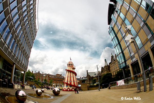 St Pauls Place and the peace gardens