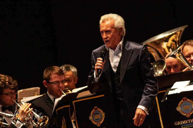 Tony Christie with the Grimethorpe Collery Band