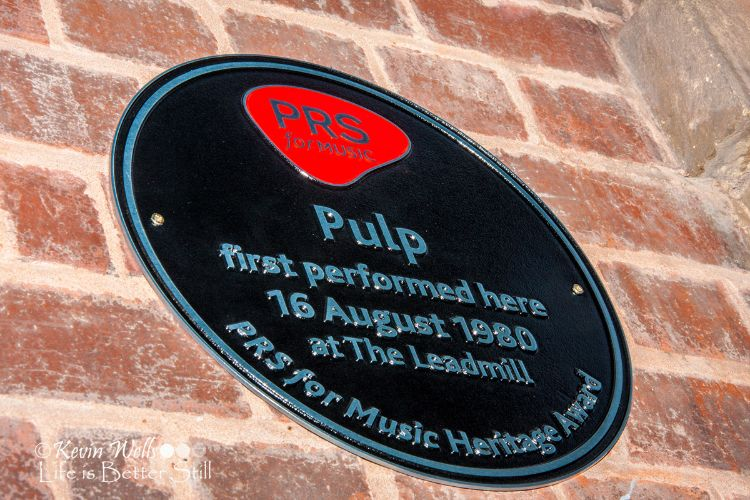 Pulp's PRS plaque Leadmill 2015